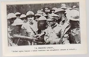 Mint-Italy-Army-postcard-WW-1-French-British-Italians-Soldiers-with-Machinegun