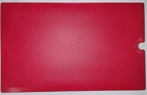 "Cambro VBRWC158 Hot Red Versa Well Cover 20 7/8"" x 13"" x 2"""