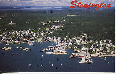 POST CARD OF STONINGTON MAINE DEERE ISLAND FISHING TOWN