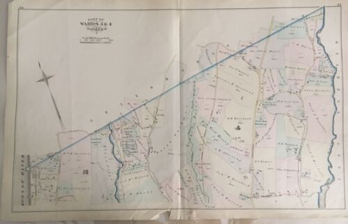 Part of Wards 3 & 4 Yonkers 1881 Atlas Map