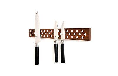 Magnetic Wooden Knife Bar Holder Strip, Cherry or Walnut, 12