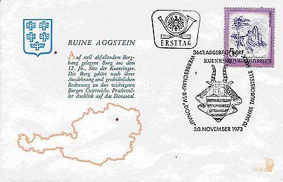 Austria  1431 FDC Schönes Österreich Ruine Aggstein Aggsbach Dorf (5 S) - 1973