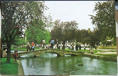 England Bridge over the River Windrush Bourton-on-the-Water - posted 1984
