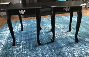 Newly finished end tables