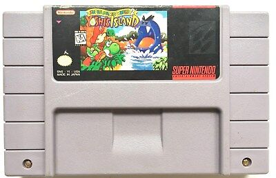 "VINTAGE SUPER NINTENDO SUPER MARIO WORLD 2 ""YOSHI'S ISLAND"" SNES GAME CARTRIDGE"