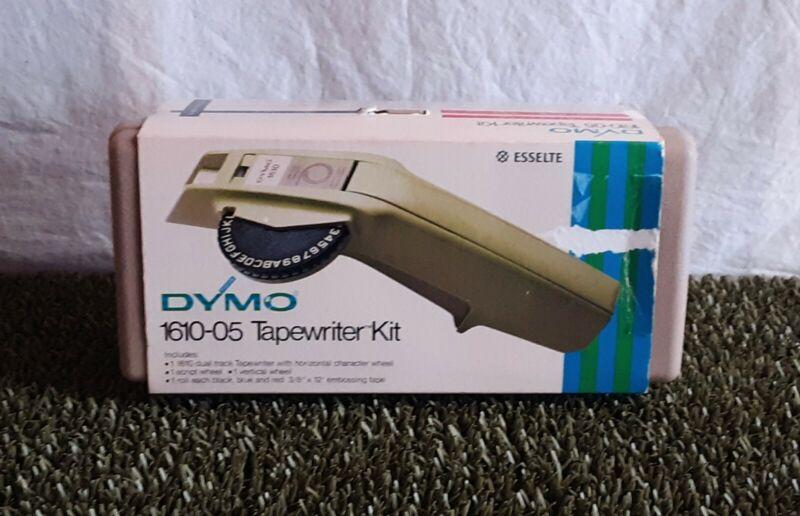 Vintage Dymo 1610 Label Maker Tapewriter Kit with Case