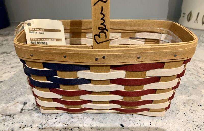 Longaberger Candle Flag Basket with Tami Longaberger signature