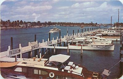 Fort Lauderdale Florida~Bahia-Mar Yacht Basin & Resort~NICE Pleasure Boats~1950
