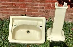 Vintage Ceramic Pedestal Sink Arncliffe Rockdale Area Preview