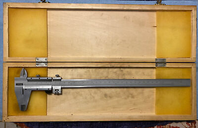 Fowler Tools Instruments Caliper 52-058-012 Stainless Wood Case 12 Inch 300mm