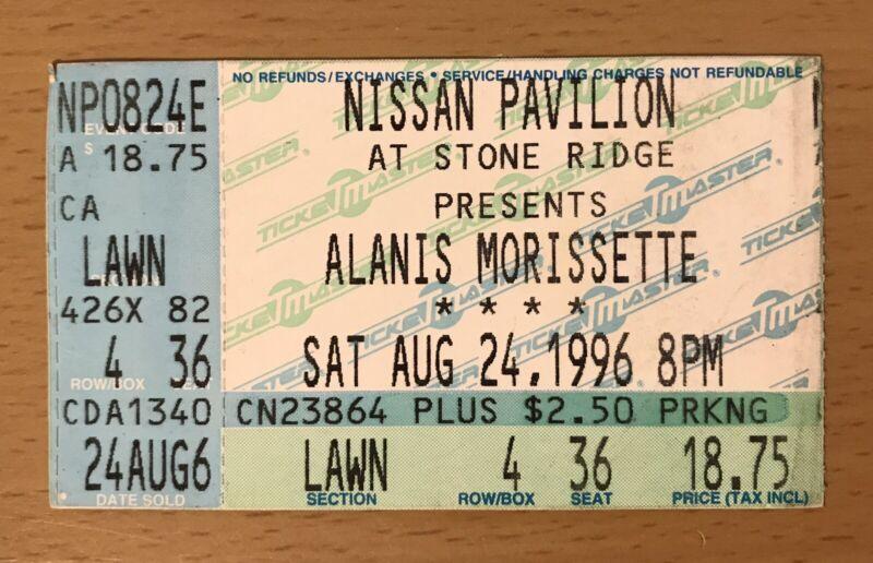 1996 ALANIS MORRISSETTE RADIOHEAD WASHINGTON DC CONCERT TICKET STUB JAGGED PILL