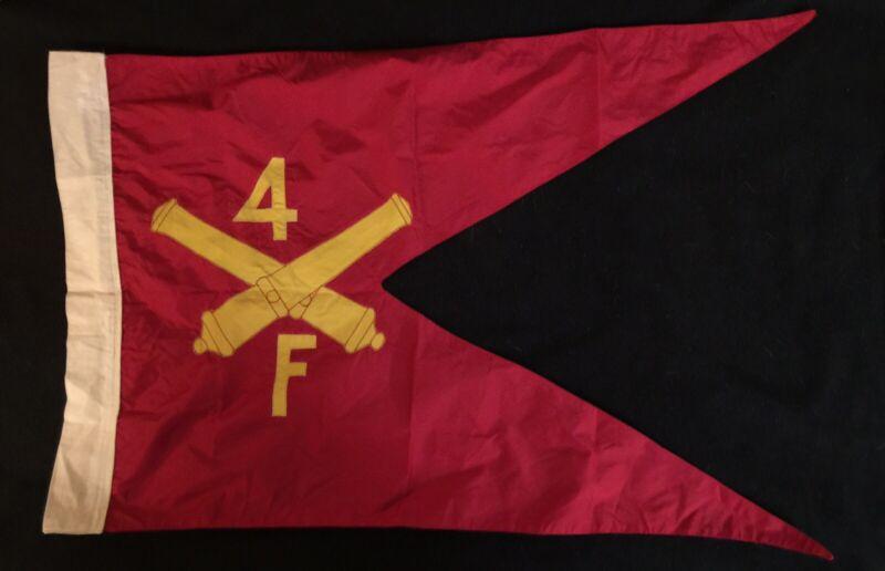 "VIETNAM WAR BATTERY FLAG; ""F"" BTRY, 4th FIELD ARTILLERY, PRESENTATION GUIDON"