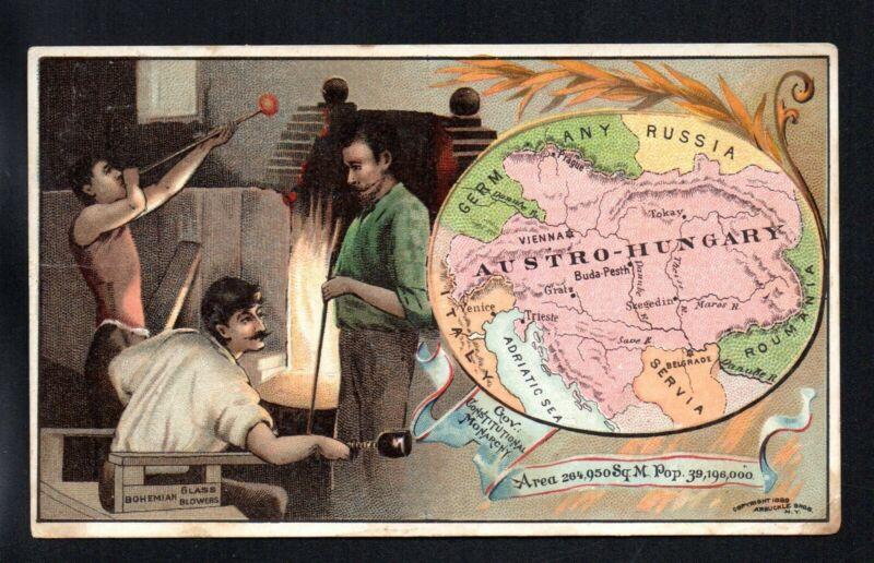 AUSTRO HUNGARY ARBUCKLE COFFEE COUNTRIES #98 1880
