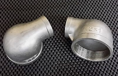 Stainless Steel Elbow 90 Reducer 2 - 1 Npt Pipe Re-200-100