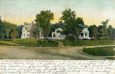 Homes In The Residential Section Of Schenectady Ny 1907