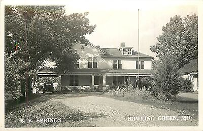 Missouri  Mo  Bowling Green  B B Springs 1948 Real Photo Postcard