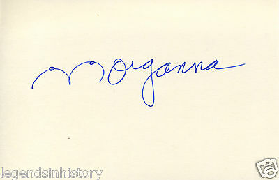 MORGANNA the Kissing Bandit Autographed Signed Card