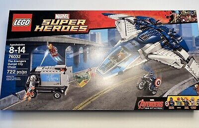 LEGO Marvel Avengers Quinjet City Chase (76032) With Instructions+Box, See Desc