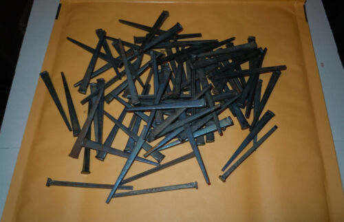 30 VINTAGE  3inch  SQUARE HEAD NAILS  - FURNITURE CABINET FLOOR-Free Shipping