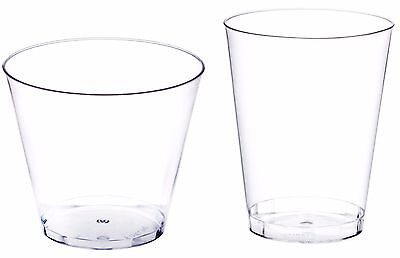 Plastic Cup (Clear Disposable Hard Plastic Cups- 5 Sizes - Rigid Tumbler Glasses Bar)