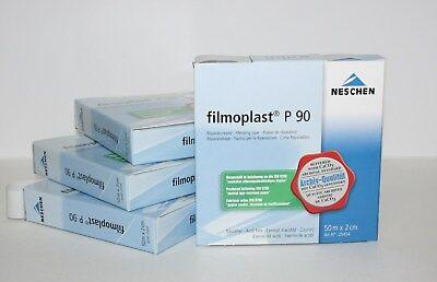 filmoplast P 90 von NESCHEN  2 cm x 50 m im Spender Klebeband säurefrei  weiß