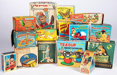 15 Vintage Japanese Japan English Wind Up Friction Mechanical Toys NOS All OB EX