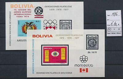 LO17122 Bolivia 1976 imperf sports olympics sheets MNH cv 60 EUR