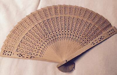 1,2,6 Pieces Vintage Spanish Folding Wood Hand Fans Wedding Quinceanera abanico
