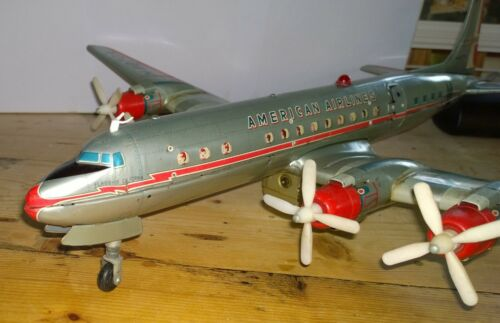 Yonezawa American Airplane Airlines DC7 Bat.op.  with stairs working
