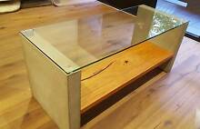 *Made To Order* Concrete, Glass and Timber Coffee Table North Melbourne Melbourne City Preview