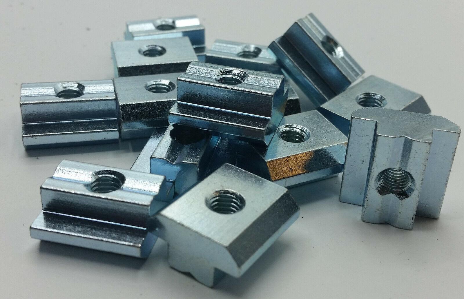 10 Stück Nutensteine schwer Nut 10 M8, Gleitstein, versandkostenfrei