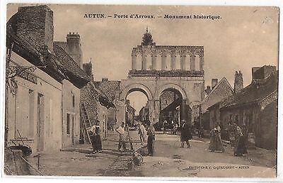 CPA 71 - AUTUN (Saône et Loire) - Porte d'Arroux - Monument historique
