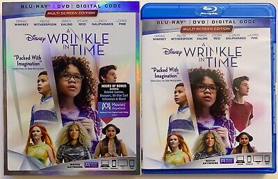 DISNEY A WRINKLE IN TIME BLU RAY DVD 2 DISC SET + SLIPCOVER SLEEVE FREE SHIPPING](Spooky In Spanish)