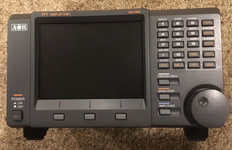 AOR SDU5600 FFT Spectrum Display Unit w/Power Supply, Cables, Manual, Box