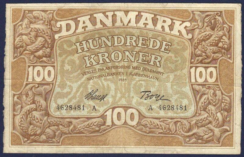 DENMARK 100 KRONER 1928