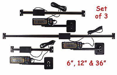 Set 6 12 36 Igaging Digital Readout Dro Ac Pwr Articulating Remote Display