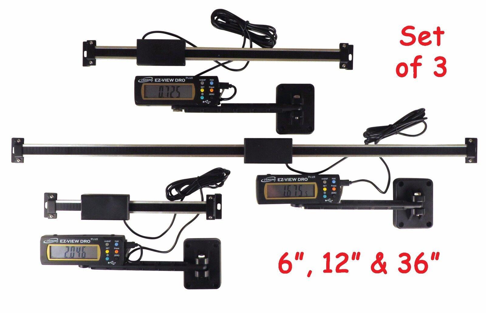 "Set 6/"" 12/"" 24/"" Easy View Digital Readout DRO Preset Articulating Remote Display"
