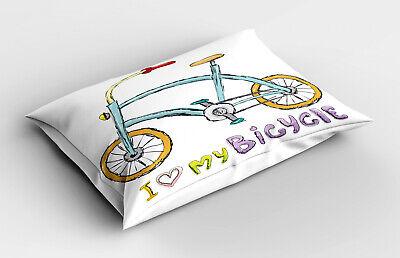 Dibujos animados Funda de Almohada Las palabras de bicicletas encantan los niños