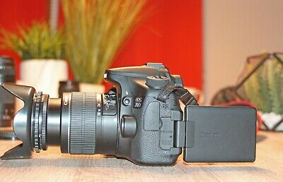 Canon EOS 70D 20.2MP Digital SLR Camera 18-55mm IS II Lens (2 LENSES)
