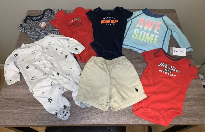 Mixed Brand (mostly Carter's) 3 Month Baby Boy Summer Lot