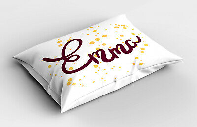 Kopfkissenbezug Modern Wohnzimmer Flauschig Emma Girl Name Curved Font