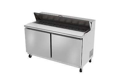 Ultra Cool 2 Doors 60 Sandwich Prep Table Cooler All Stainless 23 Yrs Warranty