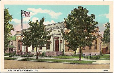 U S  Post Office In Clearfield Pa Postcard
