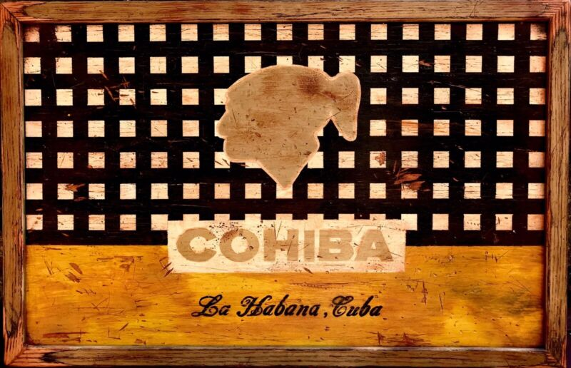 Old Cohiba Cigar Factory Sign Print, 22 x 14, Printed in USA