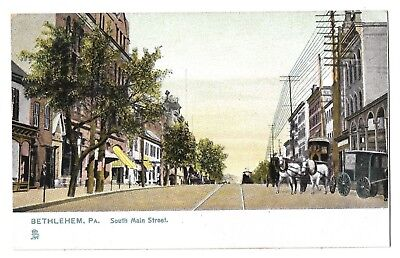 Early Tuck Postcard: South Main St., Bethlehem Pa.  Printed in Holland  EXC