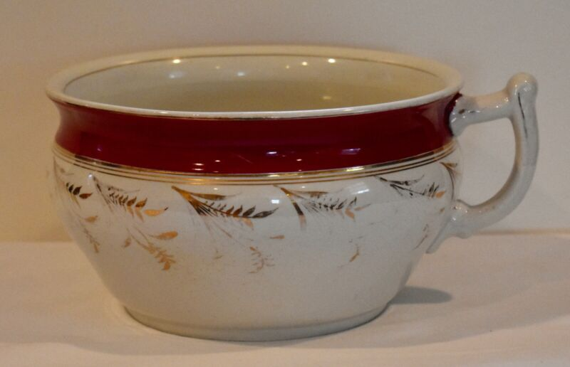Antique Porcelain Transferware Chamber Pot