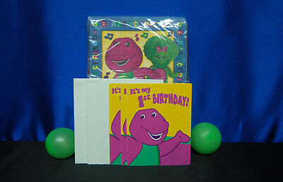 / 2 Barney Supplies Barney Napkins Barney Invites  (Barney Party Supplies)