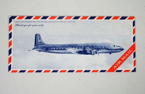 Vintage Look Magazine Return Envelope American Airlines DC-7 Air Mail Airplane
