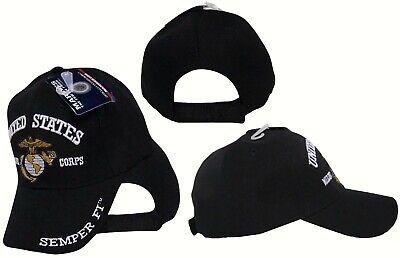 Semper Fi Cap (USMC EGA United States Marine Corps Black Semper Fi Cap Hat (Licensed Product) )