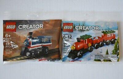 Lego Creator Train 30575 and Christmas Holiday Train 30543 Sets